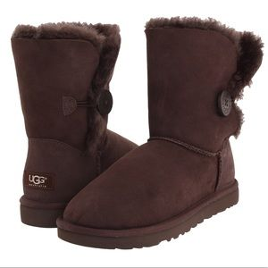 Brown UGG Bailey Button boots